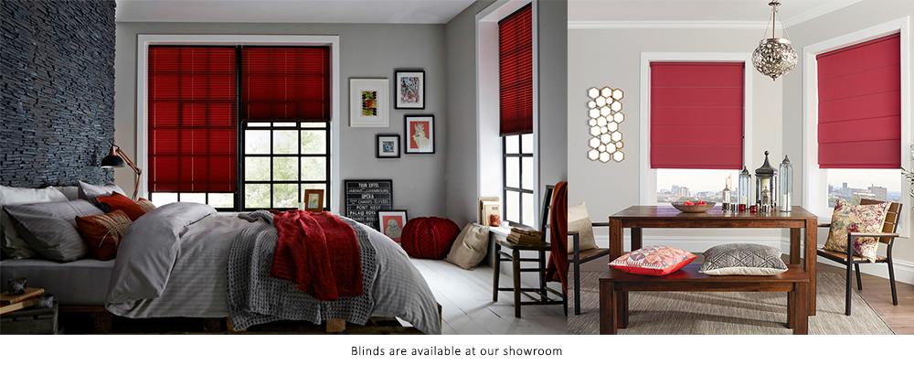 Ruby red blinds