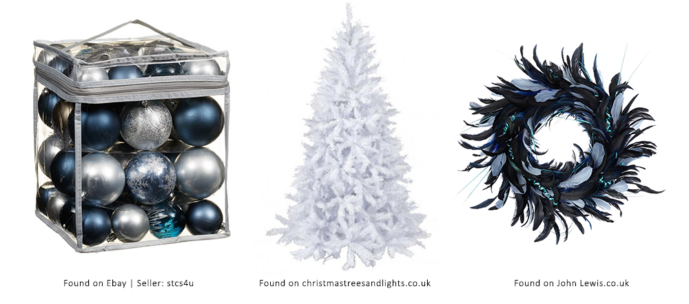 Sapphire Christmas decorations