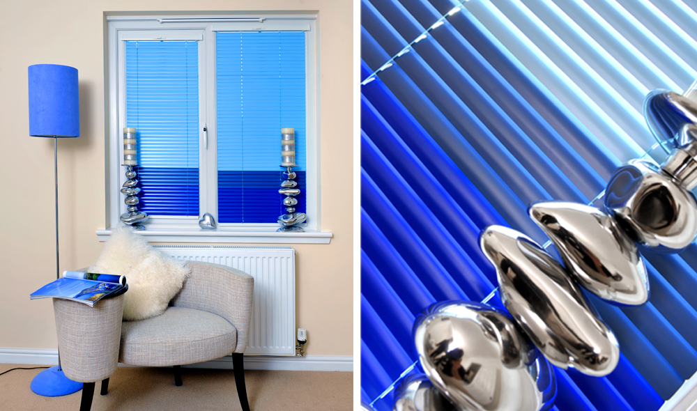 Blue Intu Metal Venetian Blinds
