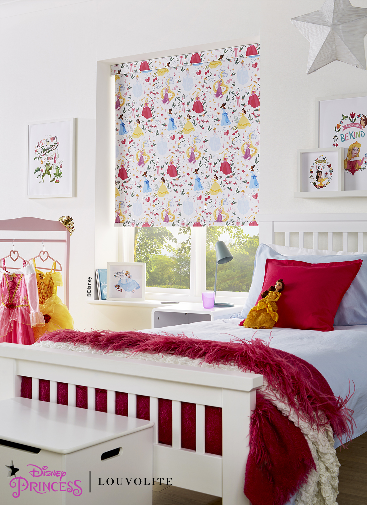 Disney Princess Bed Room Ready To Hang Curtains Window Blinds